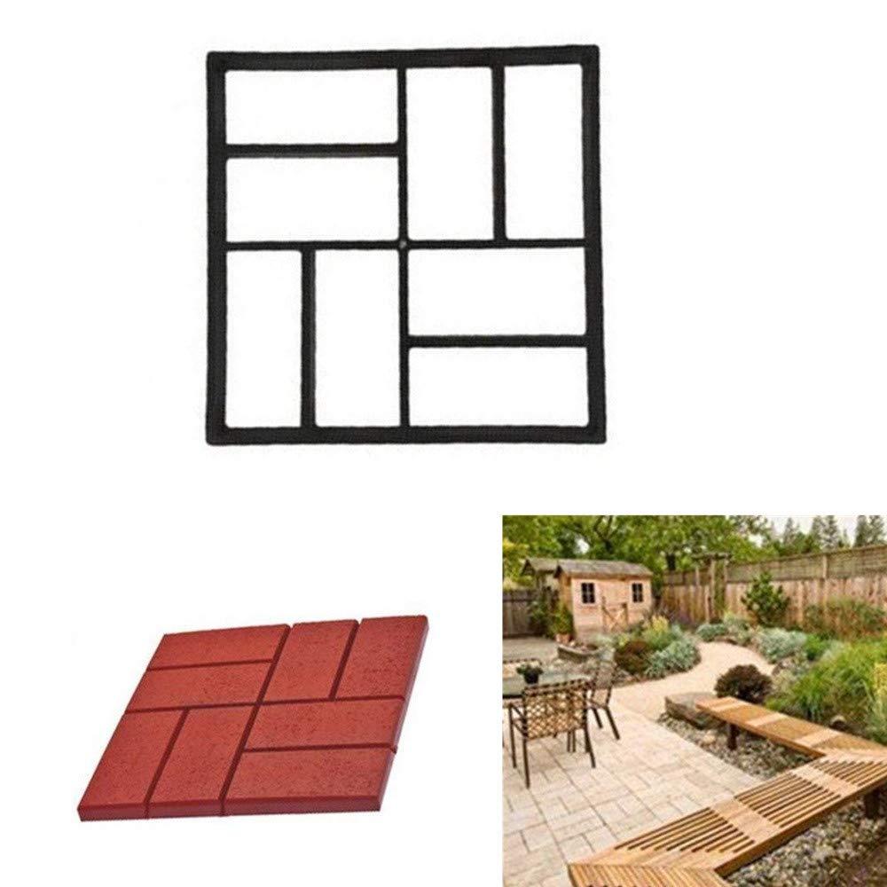 TuHao - Molde Reutilizable para hormigón, diseño de Piedra de Cemento, Molde para Hacer pavimentos, pavimentos, pavimentos, Patios, pasarelas: Amazon.es: ...