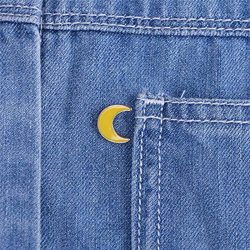 Acrylic Brooches Moon Alien Telescope Spaceship Planet Button Pin Badge Brooch% | Style - Moon