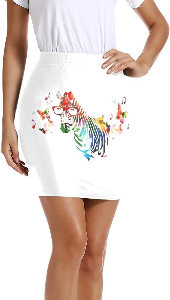 LUPINZ - Mini Falda Ajustada elástica para Mujer, diseño de Cebra ...