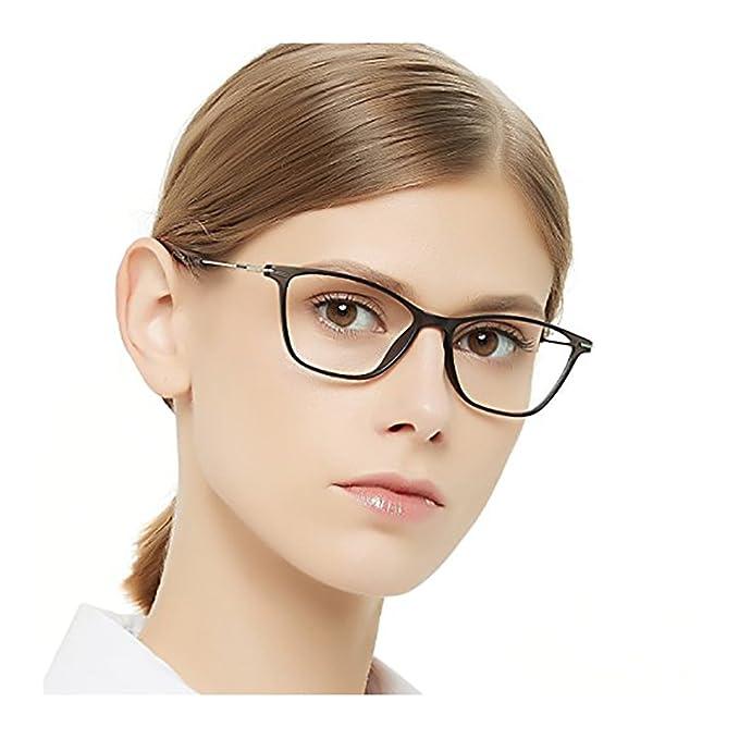 108b402a82 OCCI CHIARI Gafas ópticas marco moda lentes ópticas gradiente color luz y  super fino acetato flexible marcos con bisagra fija y lentes claras para  mujer: ...