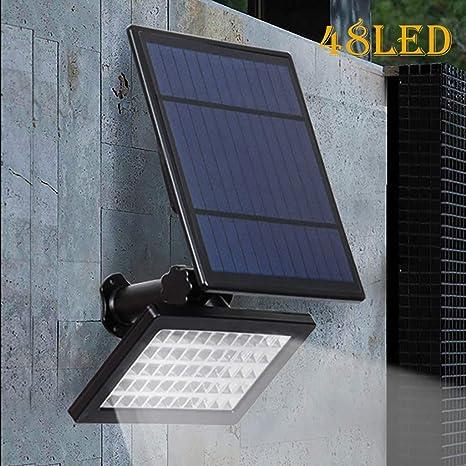 Farol Solar para jardín de LeeMon, luz automática para el jardín, iluminación Nocturna de Alta Potencia con 48 Luces LED para Exteriores, Mujer, a: Amazon.es: Deportes y aire libre