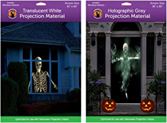 36 x 80 Door Holographic Rear Projection Screen with Mounting Hardware for Projecting Halloween Videos
