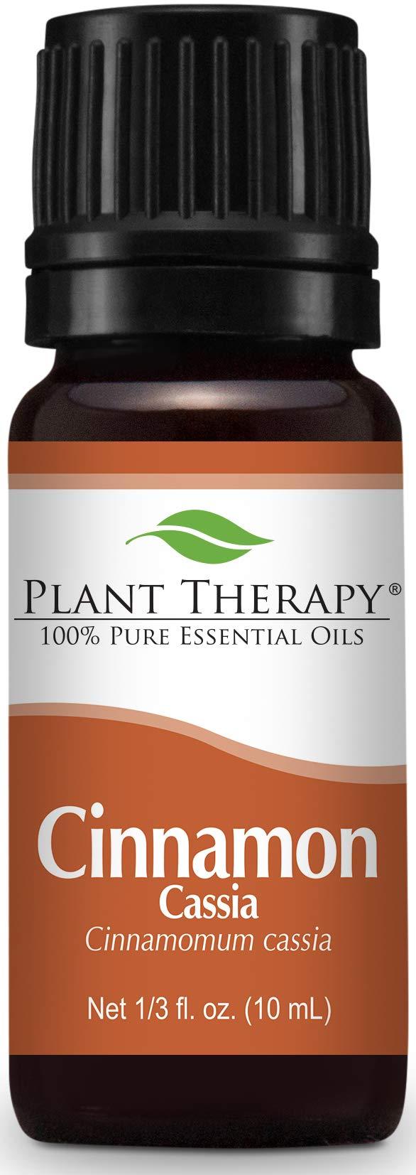 Plant Therapy Cinnamon Cassia Essential Oil 10 mL (1/3 oz) 100% Pure, Undiluted, Therapeutic Grade