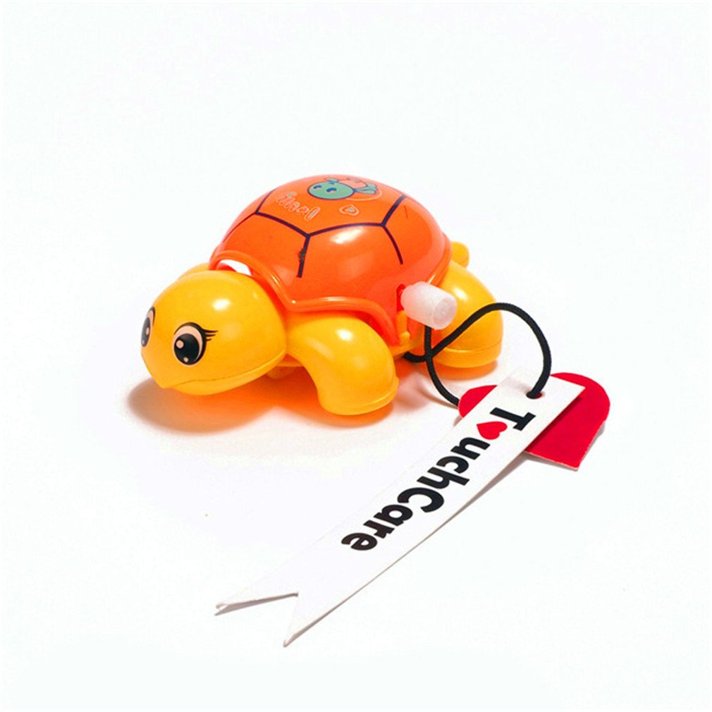 Random Color Dolland 1 Pc Cartoon Animal Clockwork Cute Tortoise Baby Turtle Toys Infant Crawling Wind Up Toy Educational Kids Classic Toy