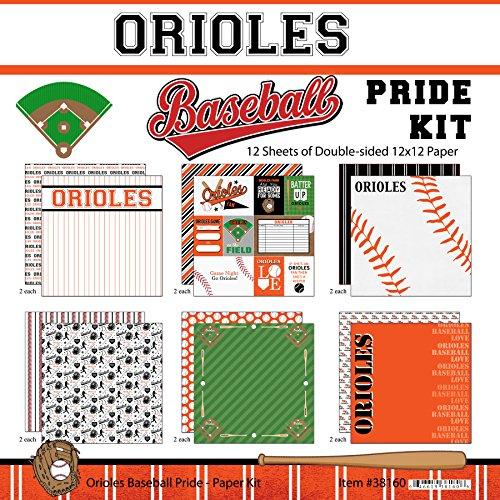 Lineup Orioles Baltimore - Scrapbook Customs Orioles Pride Baseball Scrapbook Kit