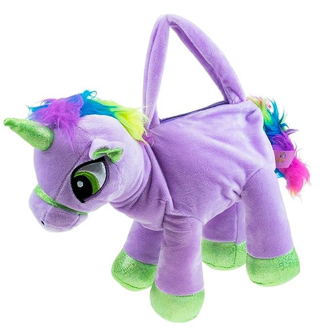NEW Unicorn Plush Soft Toy Gigi Queen Handbag 3 Colours