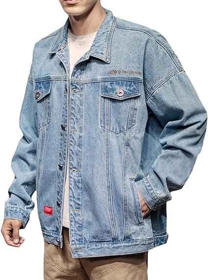 [ShuMing]ジャケット メンズ デニム ジージャン ゆったり デニムジャケット 大きいサイズ カジュアル アウター 長袖 ファッション 秋 コート カッコイイ