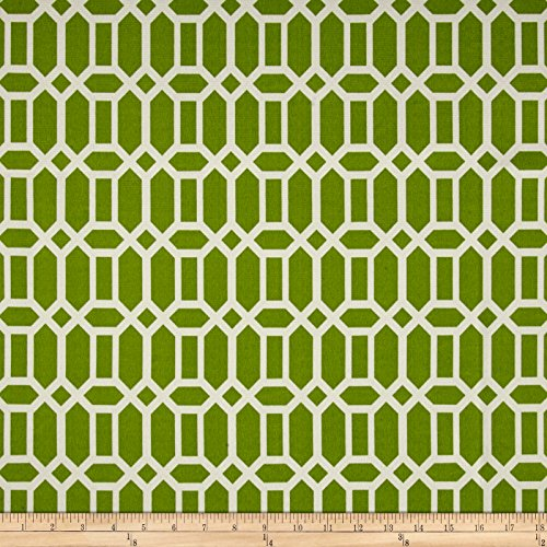 BRYANT INDUSTRIES Indoor/Outdoor Rhodes Trellis Fabric by The Yard Grass ()