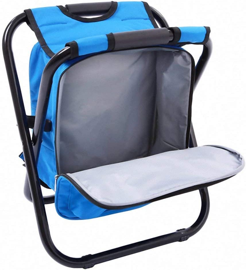 Weichuang Camping Chair Fishing Camping Chair Lightweight Backpack Folding Outdoor Oxford Fabric Foldable Picnic Table Beach Chair with Bag