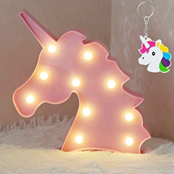 Aizesi Led Einhorn Lampe Rosa Deko Unicorn Led Night Kinderzimmer