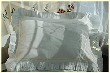 Amazon.co.uk: Frilled Cotton Pillow Cases