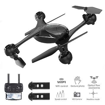 JHSHENGSHI Drone con Cámara 1080P, WiFi FPV Flujo óptico ...