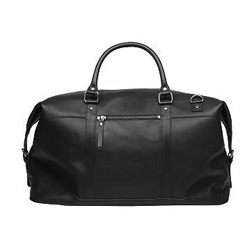 Sandqvist sac en cuir sac de Voyage Weekender Jordan cuir noir 4cYx1