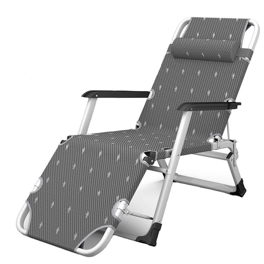 Lkwe Sedia A Sdraio Pieghevole da Ufficio Pausa Pranzo Sedia Portatile Pigro S enale Regolabile Poltrona da Casa per Anziani Ride Down Chair Easy Chair A++