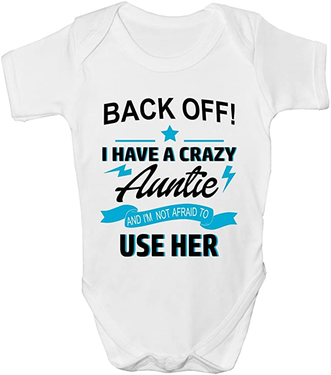 DON/'T MAKE ME CALL MY AUNTIE FUNNY CUTE BABY GROW SLEEPSUIT GIFT BABIES CLOTHING