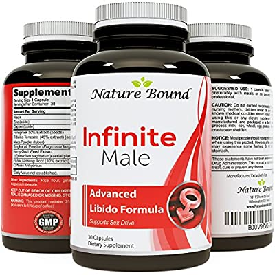 Male Enhancement Supplement Herbal Complex - With Maca Root, Horny Goat Weed, and Tribulus - Infinite Male by Nature Bound