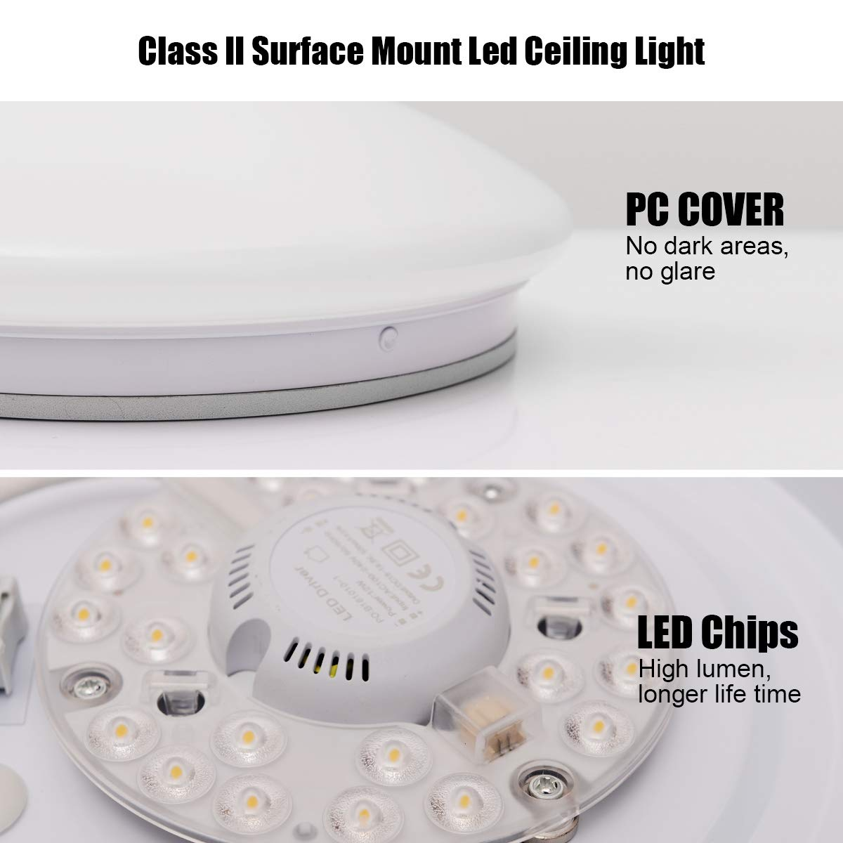 10 inch Led Ceiling Light Fixture 3000K Soft White Lighting,100W Equivalent,1200 LM,Mushroom Shape,12W Flush Mount Led Ceiling Lights for Home, Foyers, Restroom, Closet, Attic, Basement, Garage