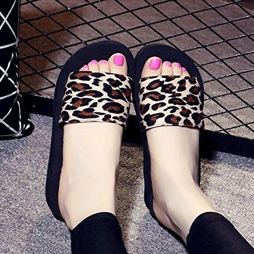 Mujeres Señoras Sandalias Zapatos de playa antideslizantes del ocio de los deslizadores de la parte inferior plana del verano para las mujeres (18-40 años) Cómodo ( Color : 1002 , Tamaño : 34 ) 1003