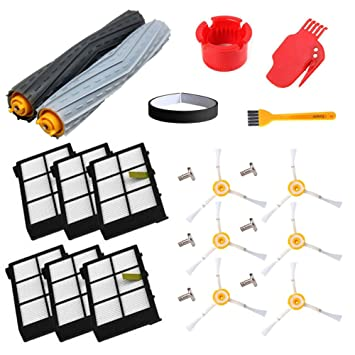 aoteng Piezas de repuesto Roomba para iRobot Roomba 980 960 900 890 880 870 860 800 Aspiradora robotizada (filtros Hepa, cepillos laterales, ...