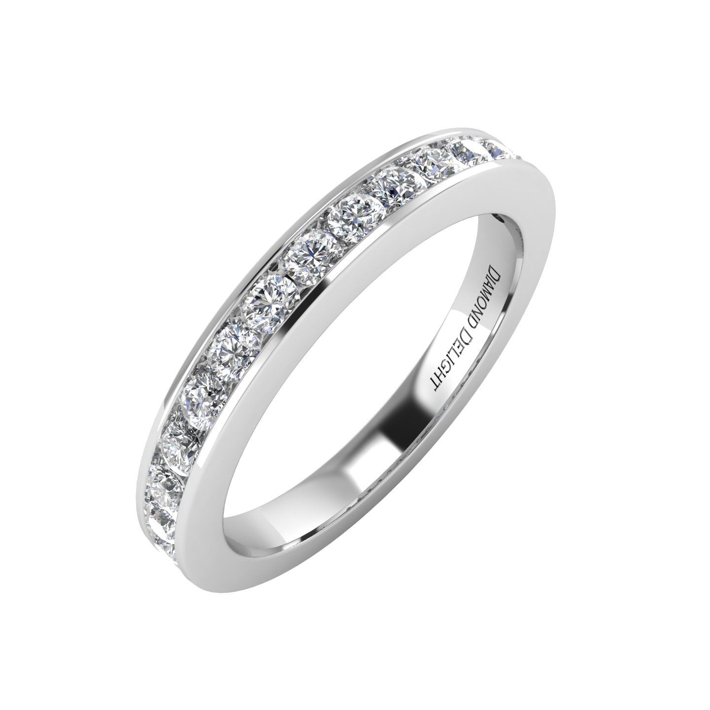 IGI Certified 14k White Gold Wedding/anniversary Diamond Band Ring (1/2 Carat)