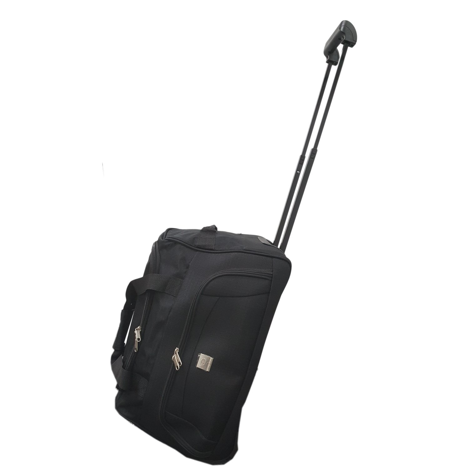 b532de7f2892 Cabin Size Approved 45L Roller Travel Duffel Wheely Bag Hand Luggage  Wheeled Trolley Holdall Duffle Carry Bag with wheels Lightweight Overnight  Telescopic ...
