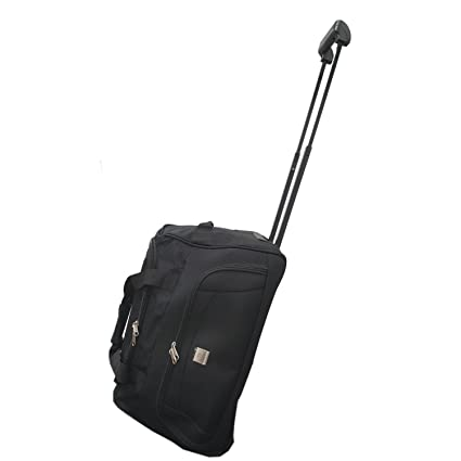 Cabin Size Approved 45L Roller Travel Duffel Wheely Bag Hand Luggage  Wheeled Trolley Holdall Duffle Carry 3a12e749586f5