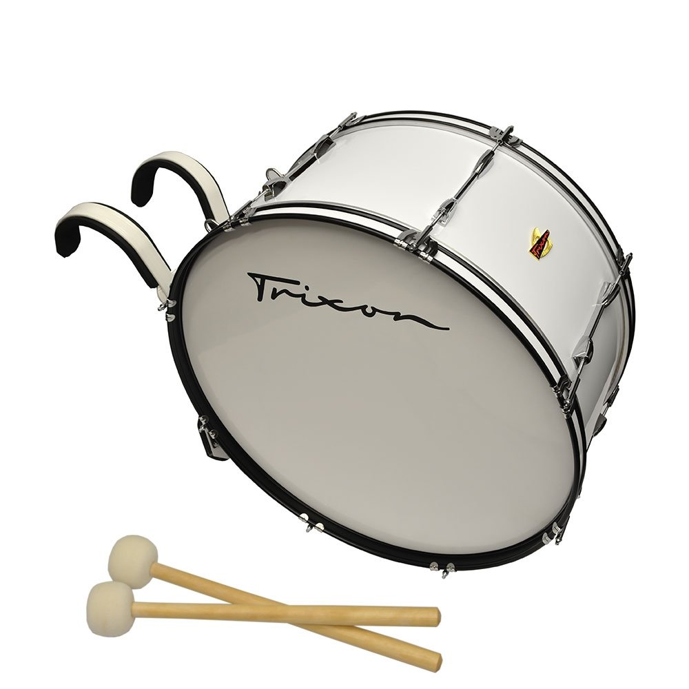 Trixon Field Series Marching Bass Drum - 24'' x 12'' - White