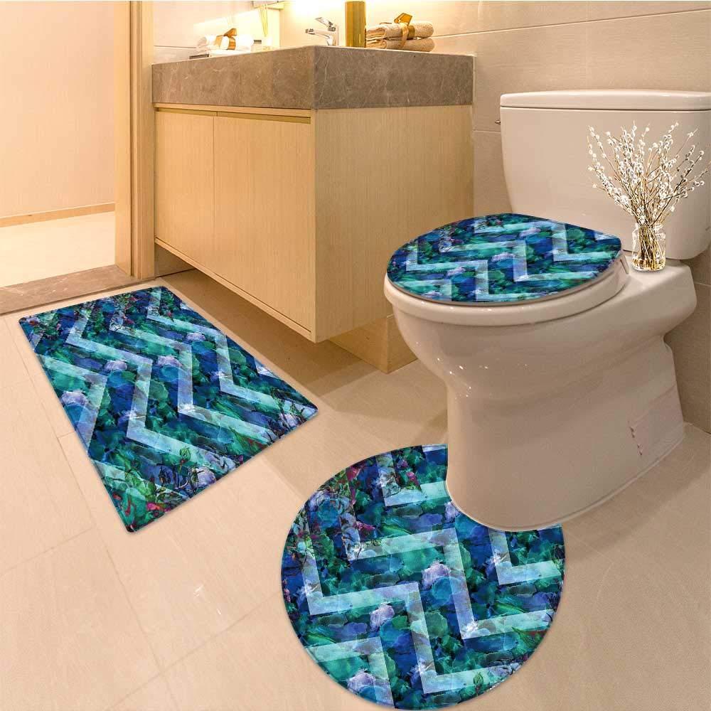 Amazon Com Miki Da 3 Piece Large Contour Mat Set Water Color