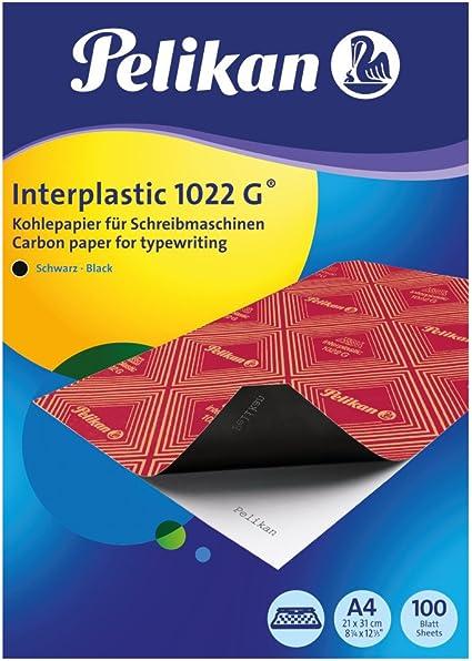 Papel Carbon PELIKAN INTERPLASTIC 1022G A4 Caja de 100 Negro ...