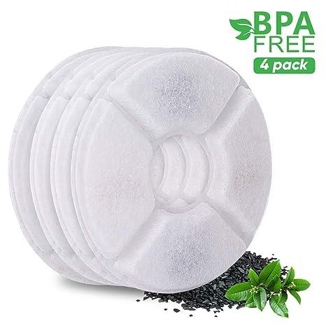 YOUTHINK Paquete de 4 Reemplazo de filtros,Compatible LED Fuente de Flores,Reemplazo del Filtro para la Fuente de Agua