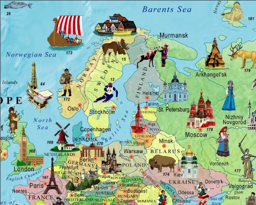 illustrated map of the world for kids childrens world map