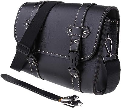 D Dolity Universal Motorradtasche Motorrad Satteltasche Gepäcktaschen Werkzeugtasche Hecktasche Leder Tasche Auto
