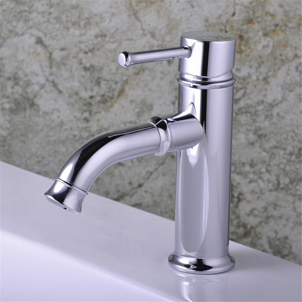 Ling Kitchen Sink Faucets Basin Mixer Faucet Tap Bathroom Faucet Tap Back-Up Aluminum Alloy Hot and Cold Mix Spout Water Pull Out