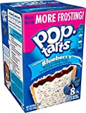 Pop-Tarts Breakfast Toaster Pastries, Frosted Blueberry Flavored, 14.7 oz, 8 count(Pack of 12)