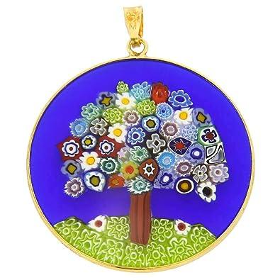 Amazon glassofvenice murano glass millefiori pendant tree of glassofvenice murano glass millefiori pendant quottree of lifequot aloadofball Images
