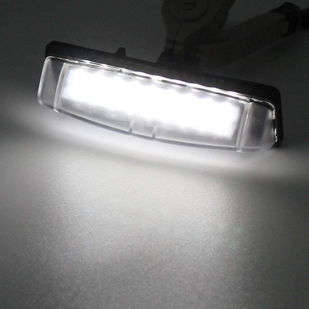 2pcs Car License Plate Light for Lexus Toyota Prius Echo Camry Yaris Error Free 3W 18 Led White Rear License Tag Lights Rear Number Plate Lamp Direct Replacement
