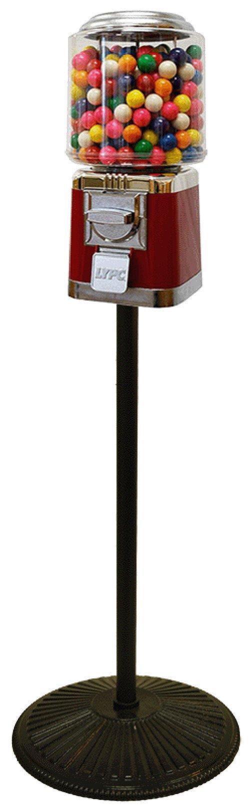 Classic Gumball Machine with Retro Stand