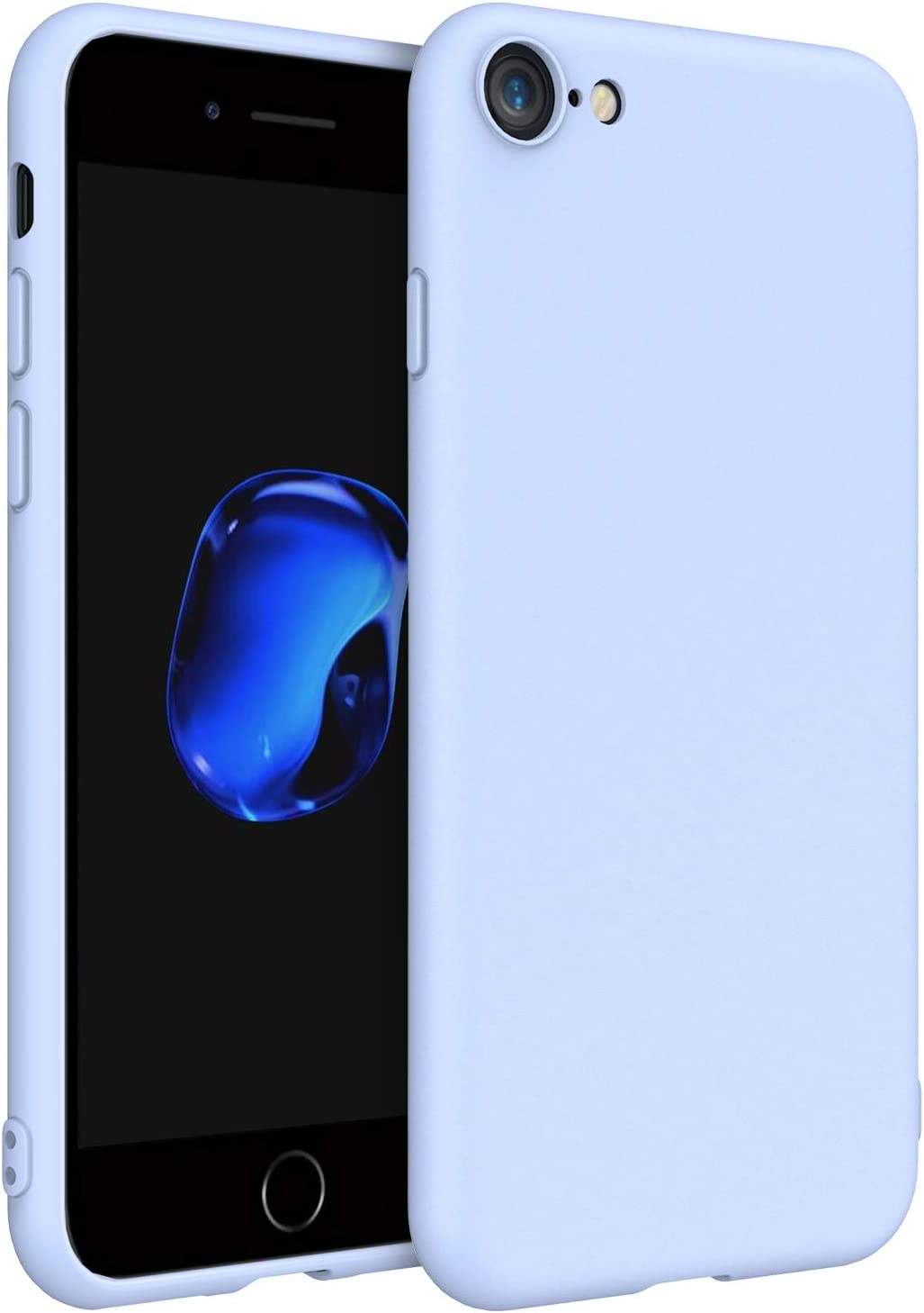 EasyAcc Case for iPhone SE 2020/ iPhone 7/iPhone 8, Thin Matte TPU Phone Cases Finish Profile Soft Back Protective Cover Compatible with iPhone 7/iPhone 8/iPhone SE 2020 - Blue
