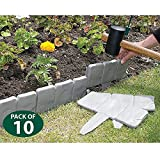 Cobbled Stone-effect Garden Lawn Edging