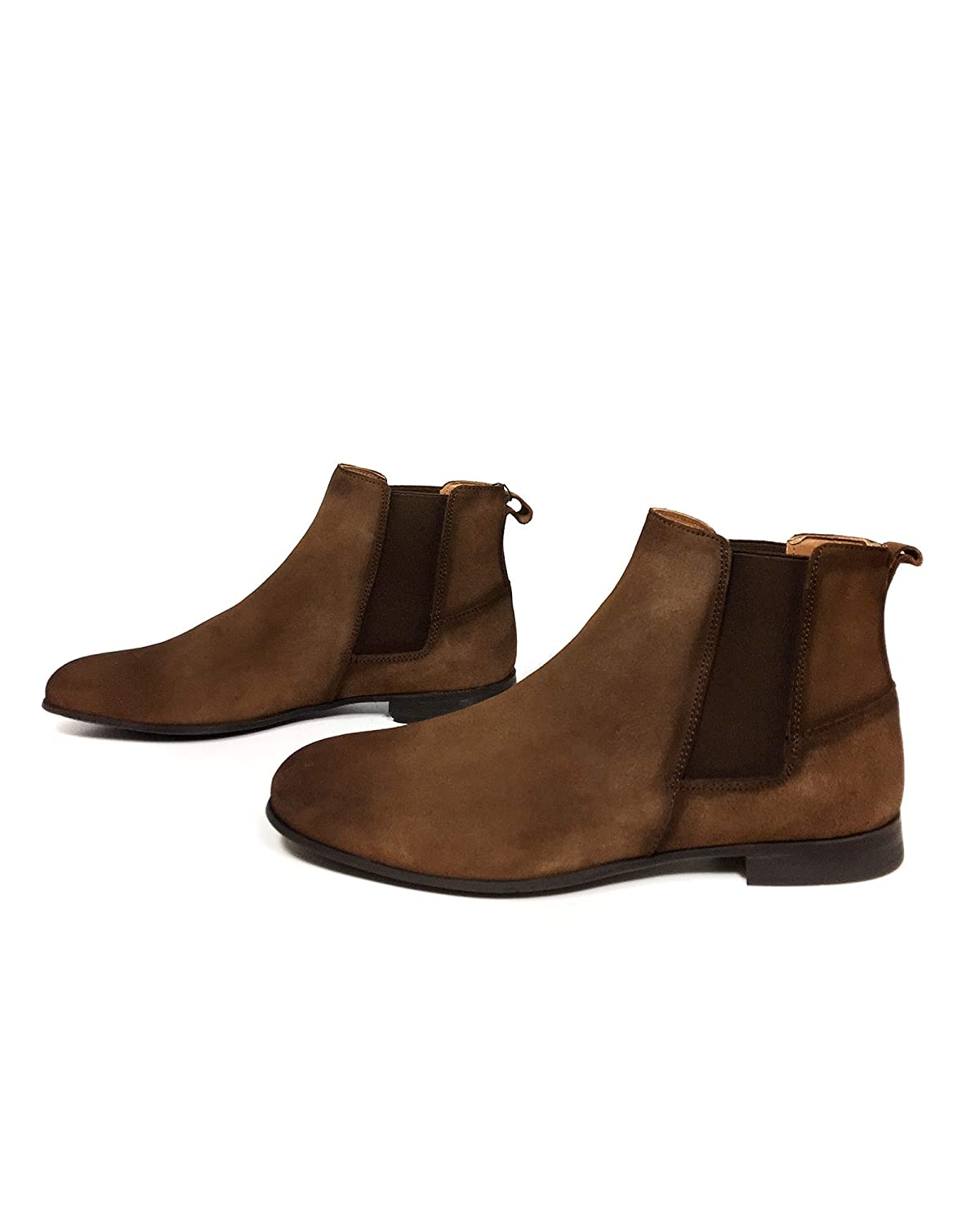 e16bbfa844aac Amazon.com: Zara Men Brown leather ankle boots 5002/302: Clothing