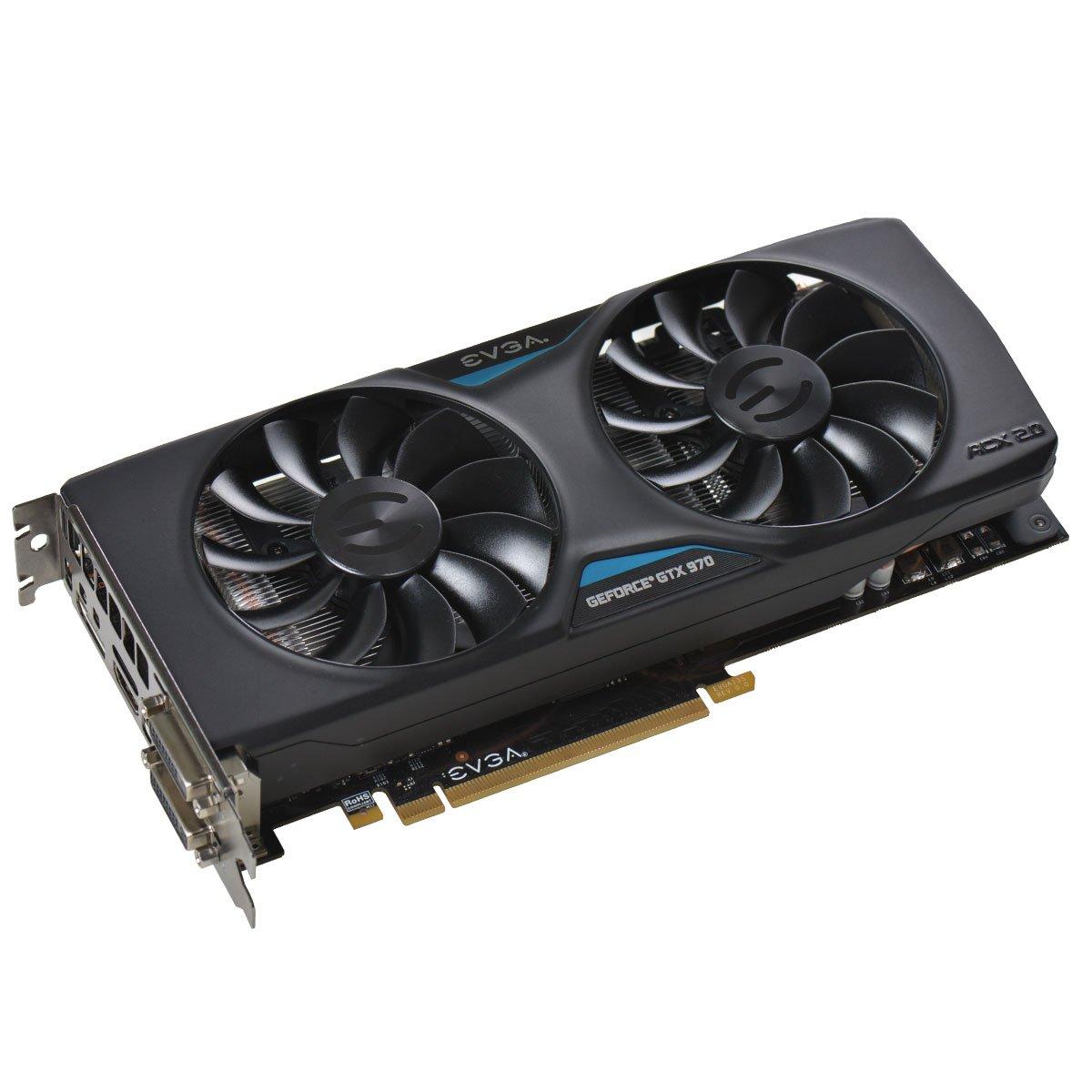 EVGA 04G-P4-2974-KR - Tarjeta gráfica (GeForce GTX 970, 4096 ...