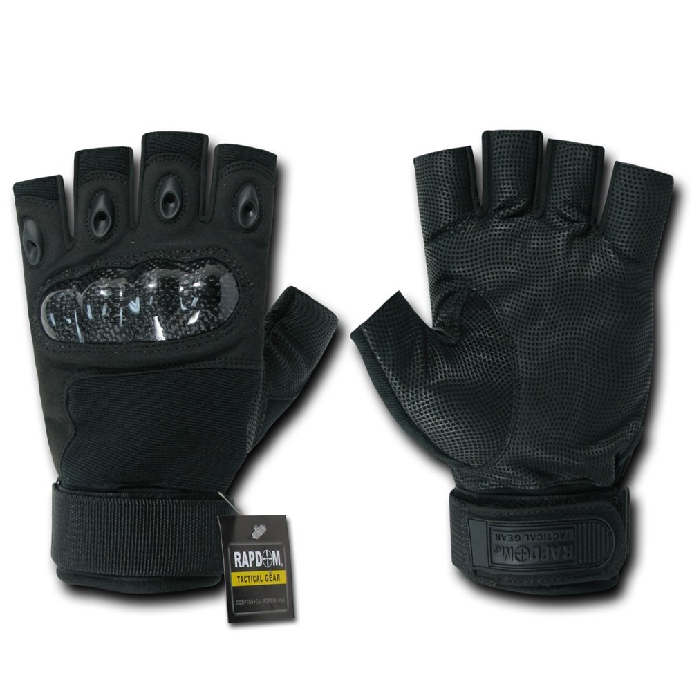 Fingerless gloves edmonton - Amazon Com Rapdom Tactical Half Finger Knuckle Glove Cycling Gloves Sports Outdoors