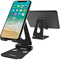 Multi-Angle Stand, Tecboss Tablet Stand : Cell Phone Video Game Holder Dock Compatible with Phone Xs Max XR X 8 7 6 6s Plus, Accessories, Tablet (4-10'') Foldable Adjustable -Black