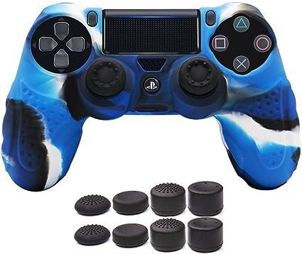 CHIN FAI PS4 Controlador de la Piel Cubierta de la Caja con 8 ...