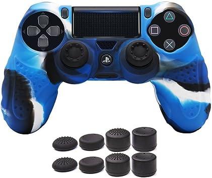 CHIN FAI PS4 Controlador de la Piel Cubierta de la Caja con 8 puños de Pulgar,