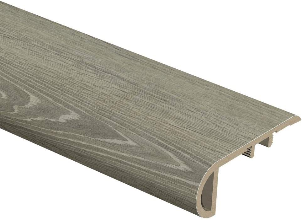 Zamma Sterling Oak Gray Birch Wood 1 In Thick X 2 1 2 In Wide X 94 In Length Vinyl Stair Nose Molding Automotive