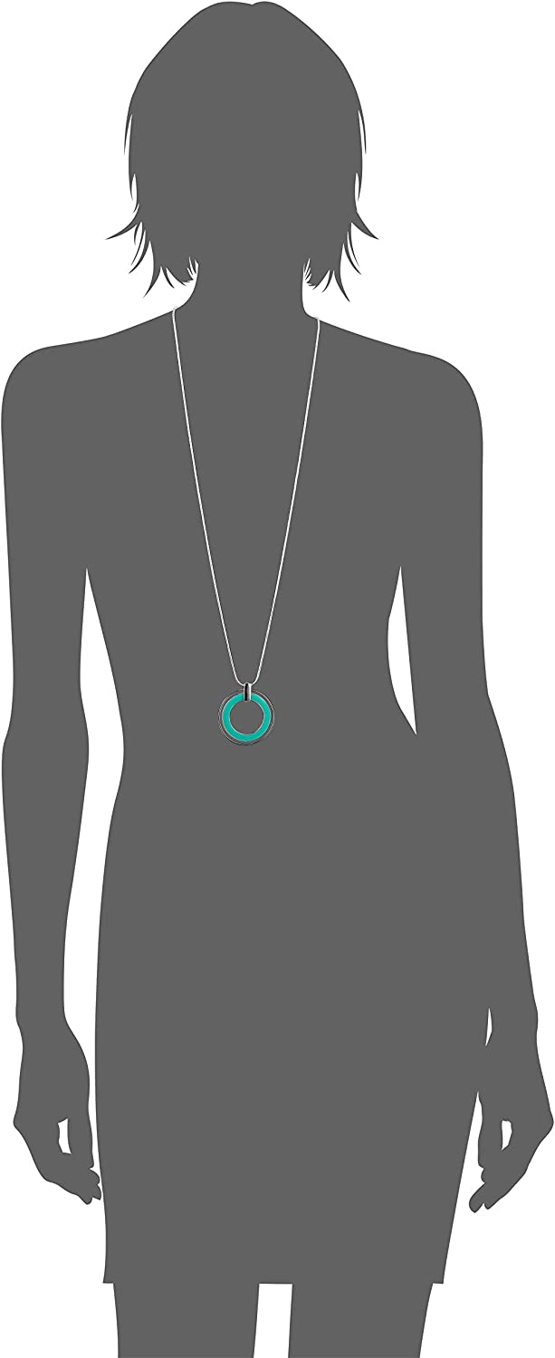Turquoise Nine West Splash Of Color Womens Ring Silver Pendant Necklace