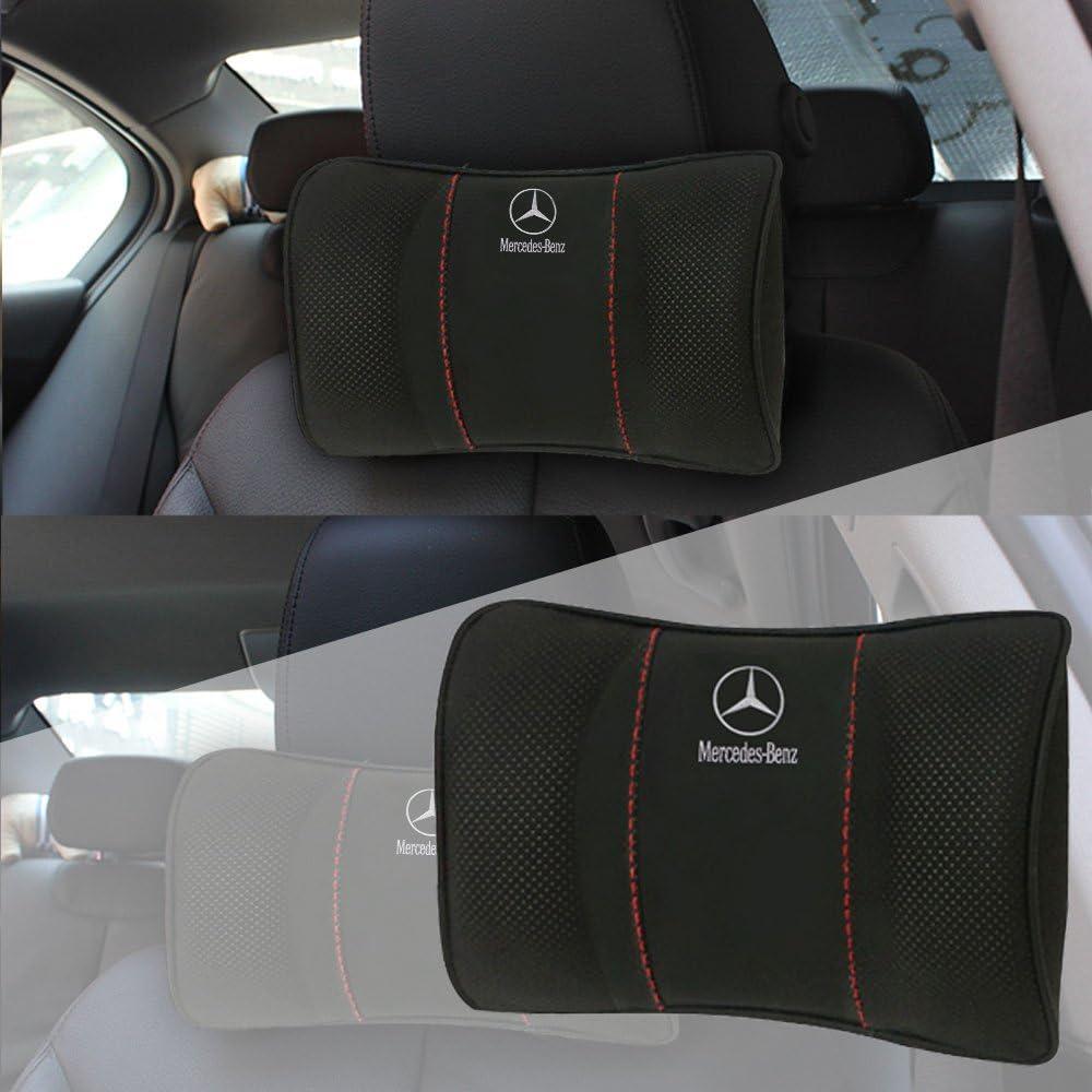 1pcs Almohada para el Reposacabezas del Coche,Almohada para el cuello del coche Mercedes Benz logo