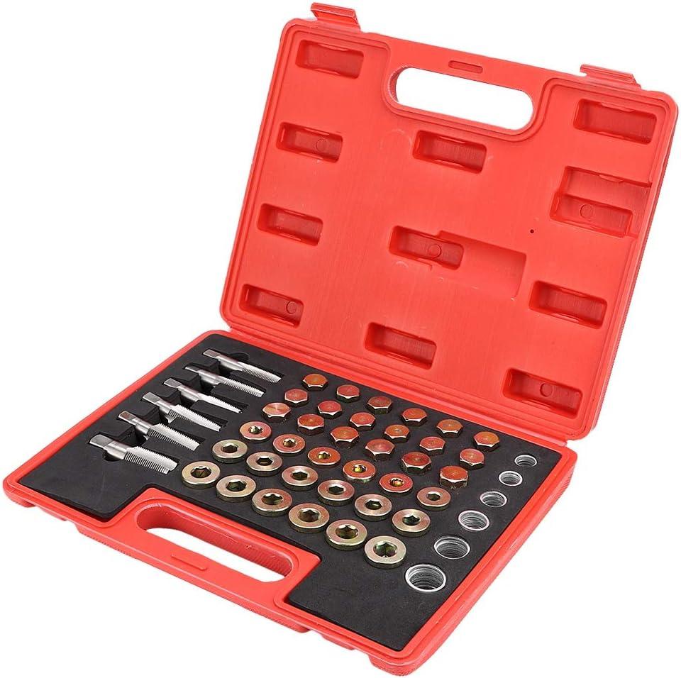 Kit de r/éparation de filetage de carter dhuile pour kit de r/éparation de vidange de vidange de loutil de vidange de 114pcs Kit de r/éparation de fil Suuonee