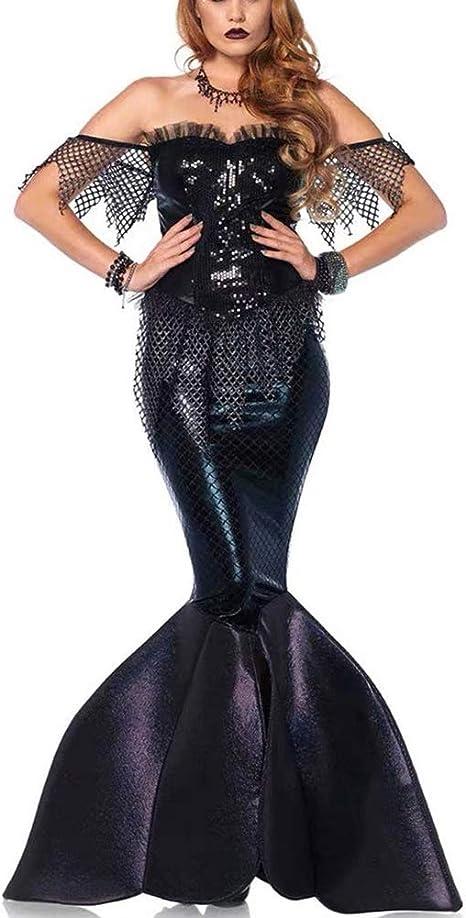 PAOFU-Disfraz de Sirena Fiesta con Lentejuelas Disfraz de ...